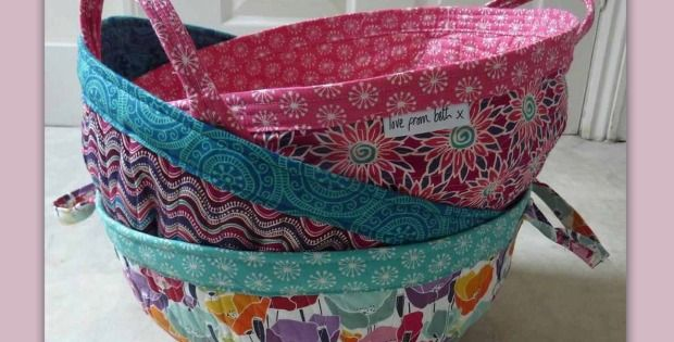 Store Patchwork Quilt Pieces, Yarn and Other Ongoing Projects in Style! Use some of your favorite fabrics to make these striking project baskets. They're so handy for keeping all the parts of various craft projects together. The baskets can also be used for general storage around the house. Make one and you'll soon want more! …