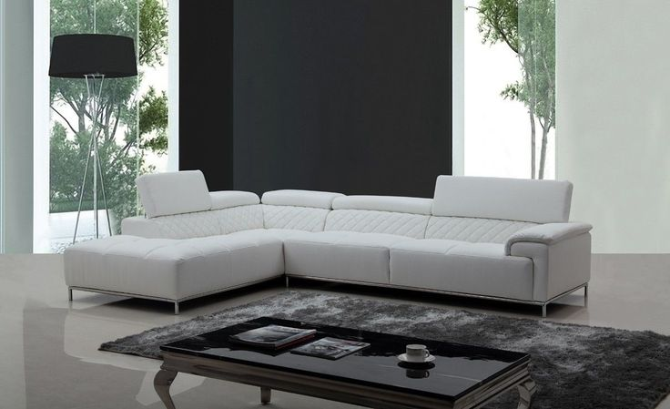 Divani Casa Citadel Modern White Eco-Leather Sectional Sofa