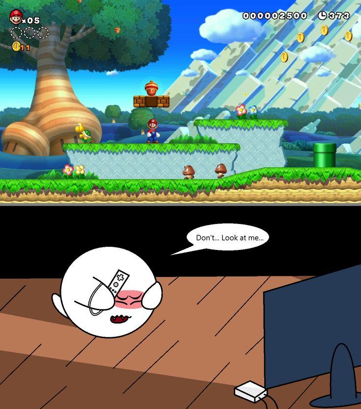 Boo plays ''New Super Mario Bros. U'' by sonickirbyfanno7np10.deviantart.com on @deviantART