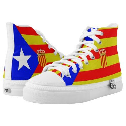 #Catalan flag High-Top sneakers - #womens #shoes #womensshoes #custom #cool