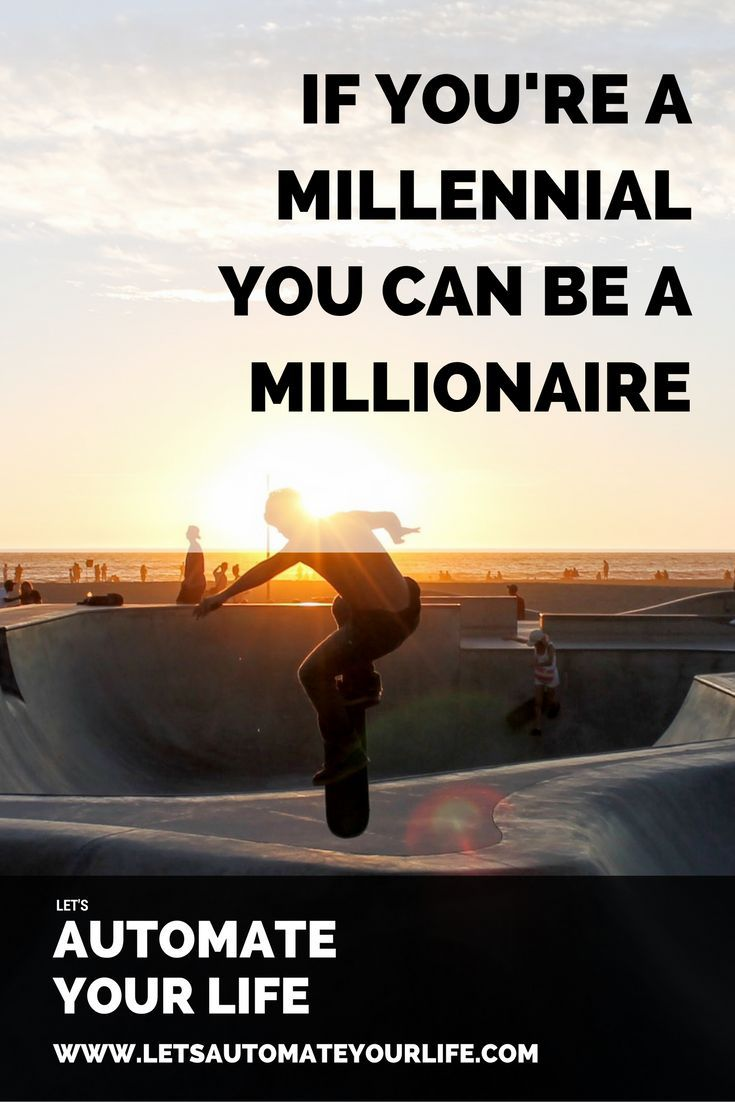 It's really not that hard to get to a millionaire dollars with some smart  investing moves now and some time which is on your side. In this article  you'll learn what moves you should take now to ensure you are a millionaire  in the future.