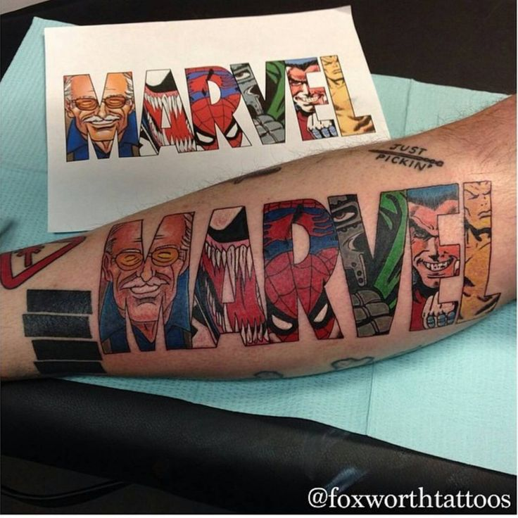 30 Amazing Marvel Tattoo Ideas & Inspiration - Art Tattoo Ideas
