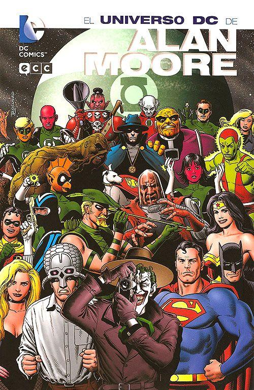 """Portada de Brian Bolland para el recopilatorio """"El universo DC de Alan Moore"""". Crítica, contenidos, portada y las mejores imágenes en la entrada del blog """"Hablando de cómics"""" ¡no te la pierdas!"""