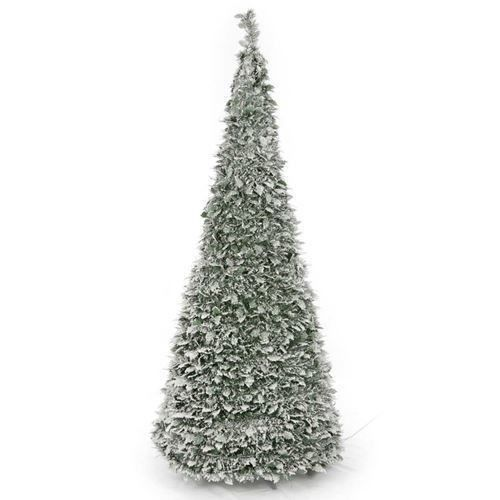 Holiday Artificial Christmas Tree Home Xmass Pop Up 1.8m Warm White Light Snow #HolidayArtificialChristmasTree