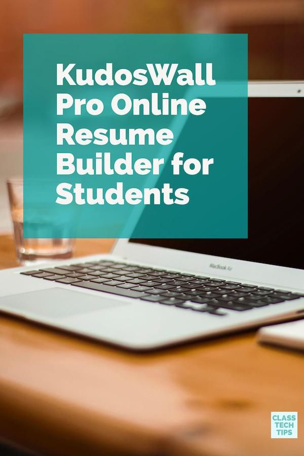 Kudos Wall Pro is an online resume builder for students. It is a great choice for students preparing applications for a school or a job. It works on a variety of devices so students can jump between the web-based tool to the mobile app. Click here to learn more about it. #Sponsored #resumebuilder #resume #resumetips
