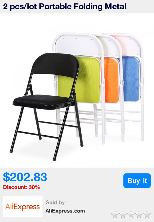 2 pcs/lot Portable Folding Metal Conference Chair High Quality Office Computer Chair Leisure Home Outdoor Chair * Pub Date: 07:38 Apr 12 2017