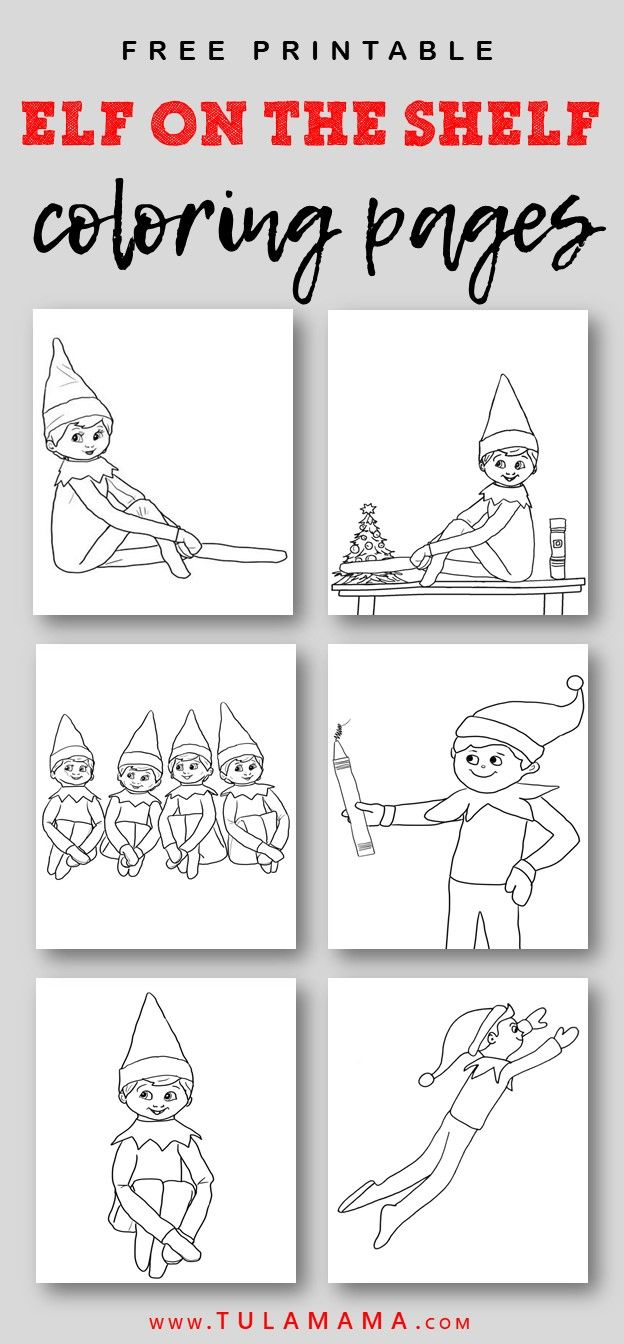 Free Printable Elf On The Shelf Coloring Pages Coloring Pages Elf On The Shelf Templates Printable Free