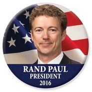 Ha ha ha ha, not in my lifetime ! Rand Paul for President 2016 button.