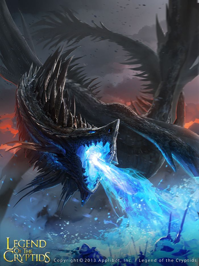 Artist: Grafitart Studio - Title: legend of the Cryptids - Card: Noble Silver Dragon (Cremation)
