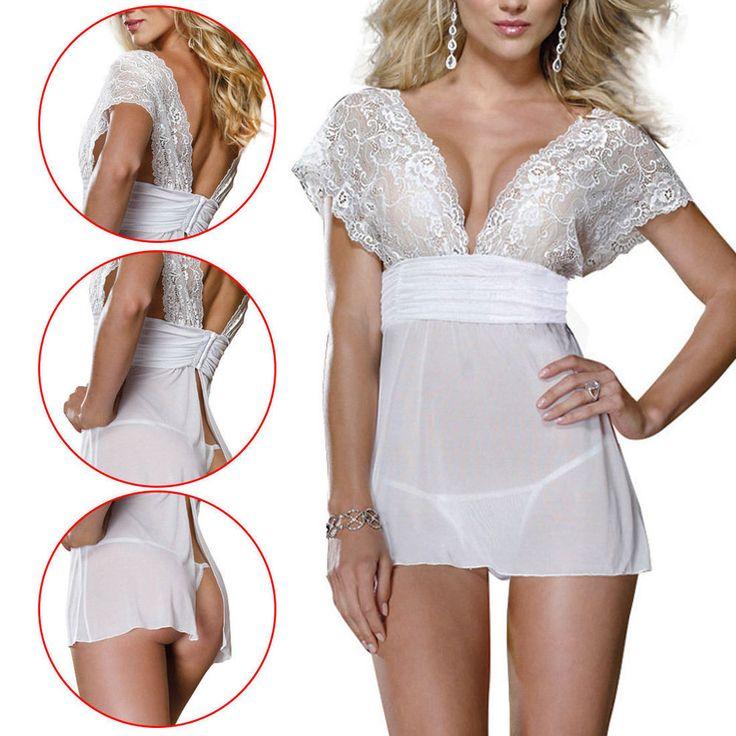 Sexy Ladies Lingerie Nightwear Underwear Sleepwear Babydoll+G String Lace Dress  #DivazFashionCreations #Sexy
