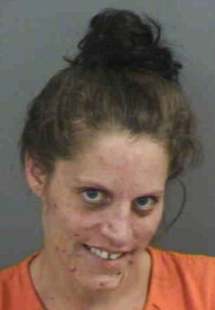 Florida woman hides meth in her buttocks then put the small bag in her mouth and started chewing trying to eat the bag during a strip search after being arrested.