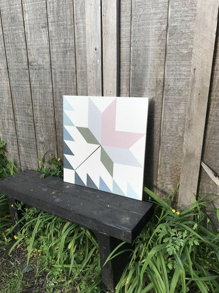 This is a 2x2 foot barn quilt hand painted with outdoor paint and sealed. The wood used is exterior grade plywood which is made to outlast most other wood materials in exterior conditions. It makes a great decoration for outside or inside and in any room. Custom orders are accepted and