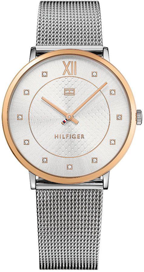 Tommy Hilfiger Women's Sloane Stainless Steel Mesh Bracelet Watch 40mm