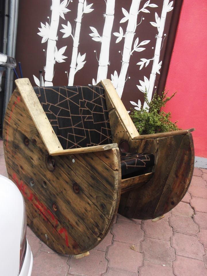 Rollo de Cable convertido en un sillón ;-) Proyecto de Marycarmen Main