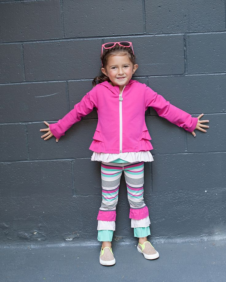 Girls Kids Club Jacket - Mix & match colour blocking for endless outfit combinations, chin guard to avoid pinching your child's chin, & thumbholes for warmth and easy layering. | Peekaboo Beans - contact your local Play Stylist or shop on-vine at www.peekaboobeans.com