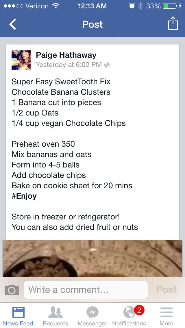 Chocolate Banana Clusters by Paige Hathaway