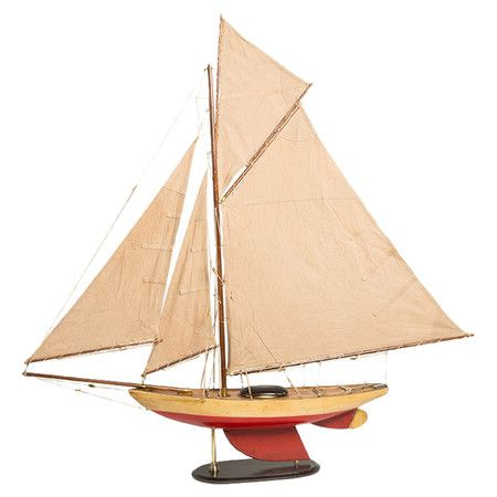 Muskeget Sailboat in Red