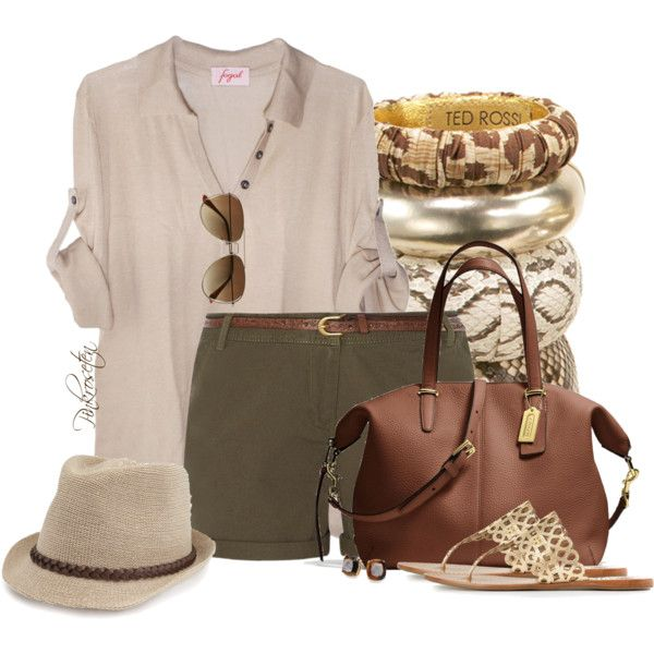 Going on a Safari!, created by pinkroseten on Polyvore