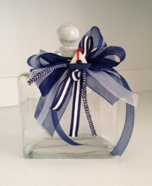 Nautical oil bottle that matches the Nautical Baptismal candle