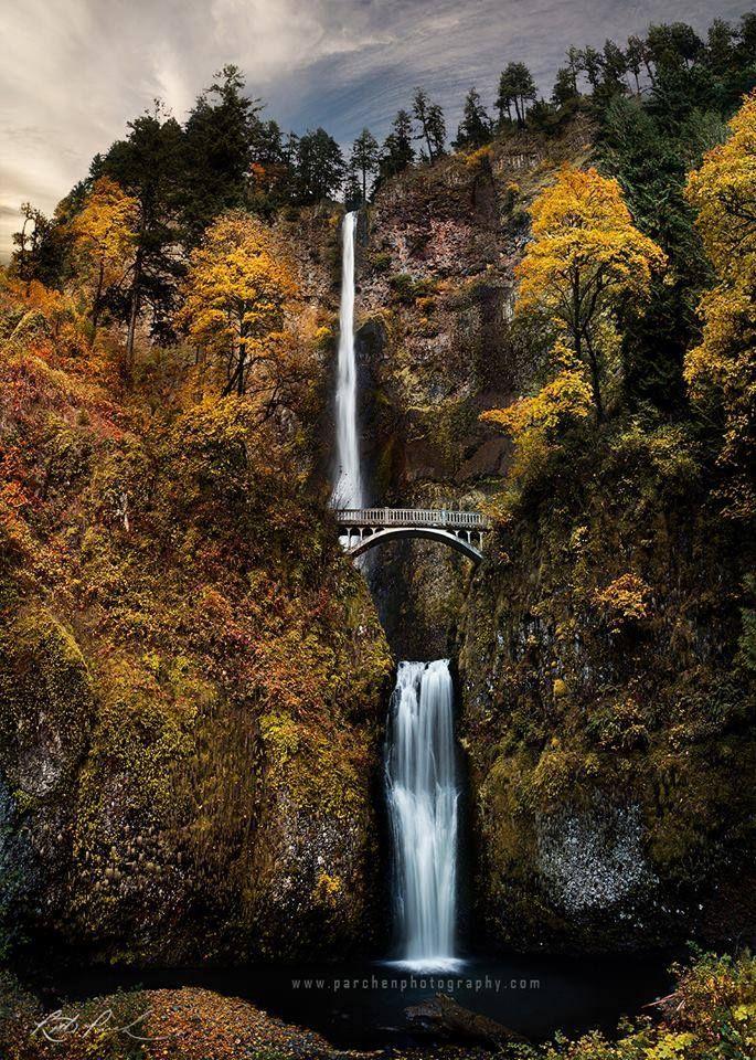 Multnomah Falls   Image Credit : Rick Parchen Photography – #Credit #Falls #imag…
