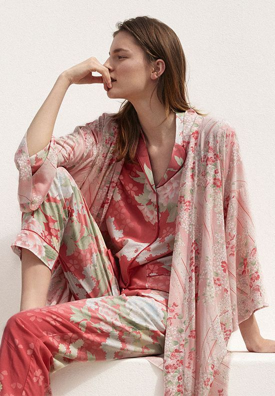 Oysho Floral Malva -