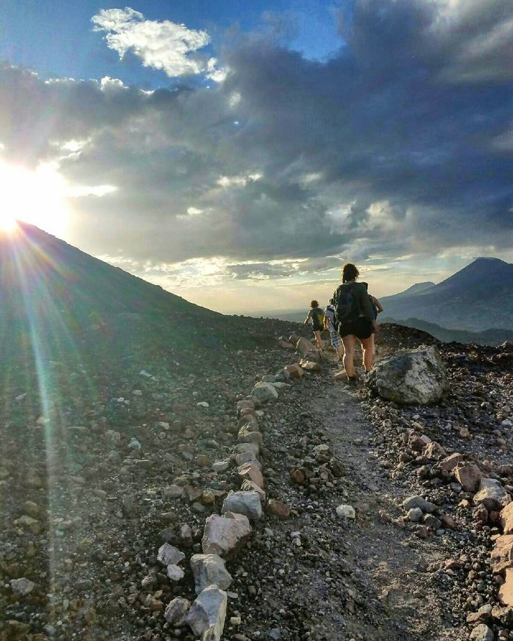Hiking Telica to view the sunset
