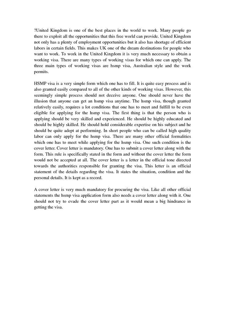 Cover Letter Uk VisaVisa Application Letter Application Letter Sample