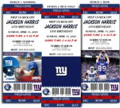 8 NFL NY Giants Party Ticket Invitations found it!