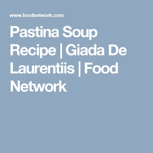 Chicken pastina soup recipes