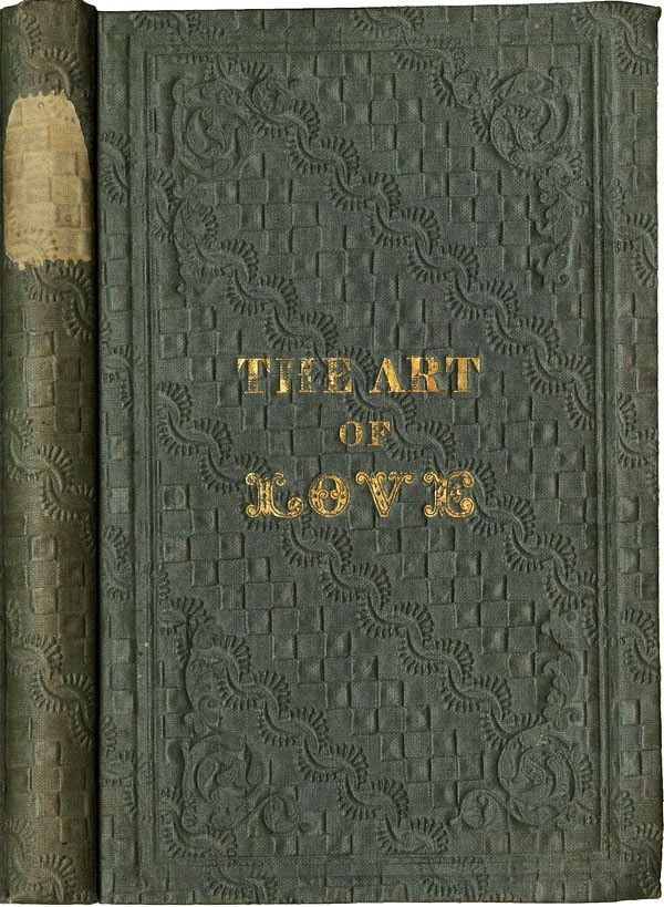 Embossing Fabric Book Cover ~ The art of love with gold stamping on a ribbon