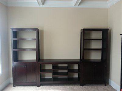 Carson Horizontal Bookcase With Adjustable Shelves   Ebony   Threshold™