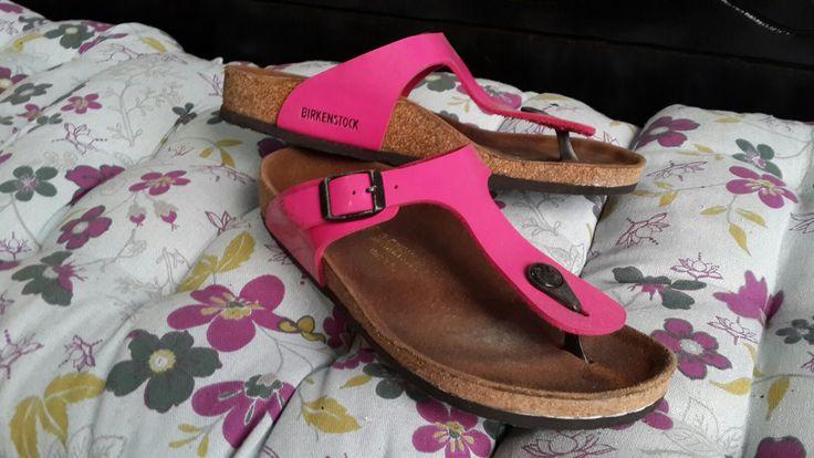 German cork pink sandals Birkenstock #34