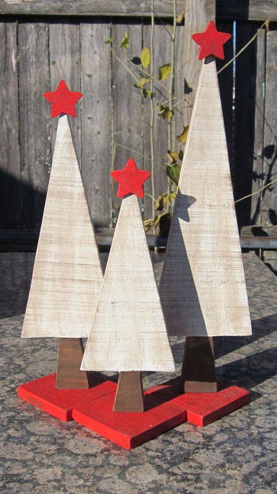 Set di tre alberi di Natale Decrative bianco di MVProducts su Etsy
