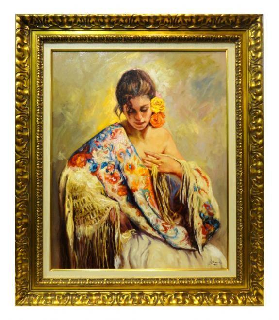 Jose luis giner mujer con manton venta de cuadros en la for Galeria de arte sorolla