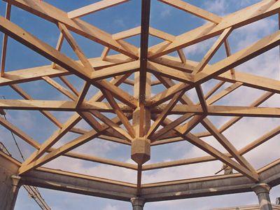 1000 id es propos de charpente bois sur pinterest charpente bois de cha - Composition d une charpente ...