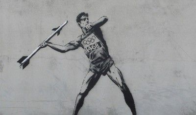 Banksy is a United Kingdom based graffiti artist and painter. His art also shows some political and social messages in various streets in cities around the world.