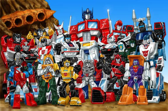 Autobot Groupshot-01 (Silver Bluestreak) by Dan K. by Cartoon-Sentinel on DeviantArt