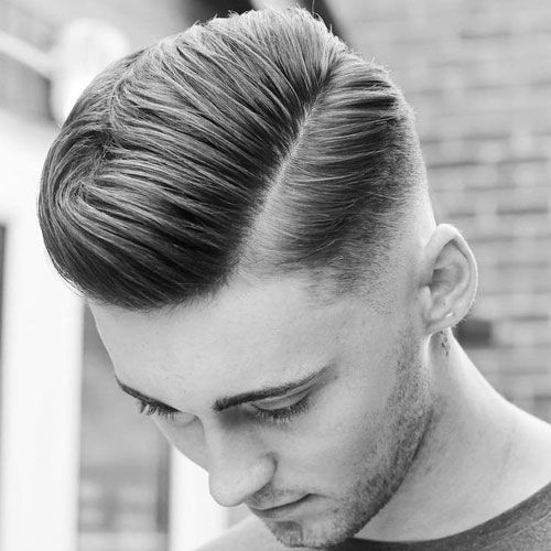 Comb Over Fade Styles - Haircut with Line