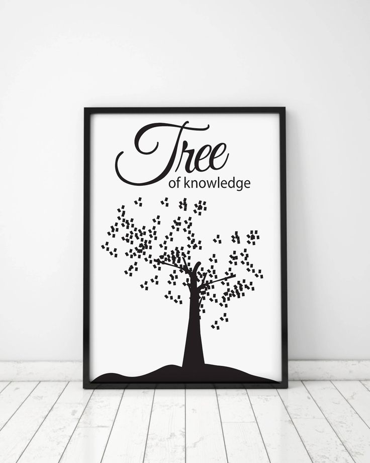 Tree of knowledge, Housewarming Gift, Home decor, Gift idea, Digital Posters, Art Posters, Tree, Science, Tree cards, Knowledge cards by MerryGallery on Etsy