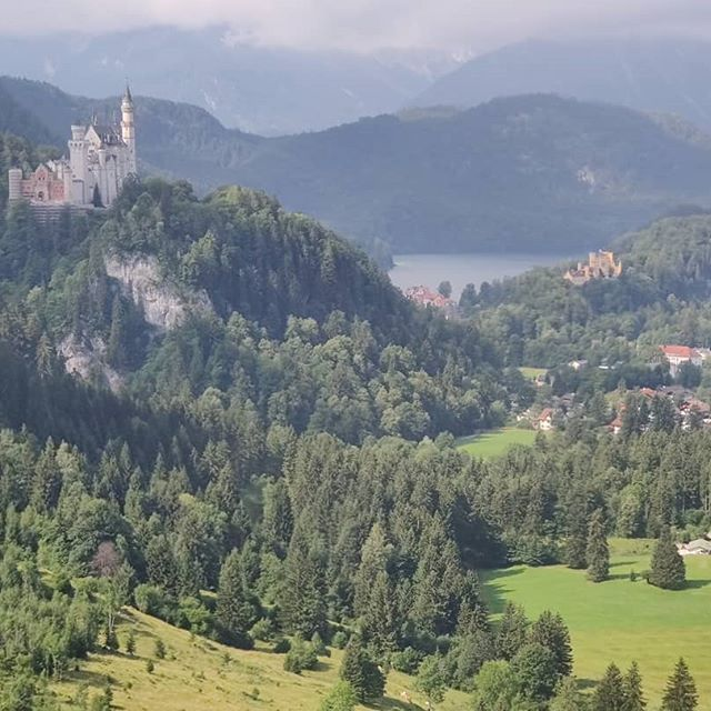 The Ride Down The Cable Car From Tegelberg In Schwangau Towards The Top Left Is Schloss The Ride Down The Cable Car From Te Beautiful Places Landscape Riding