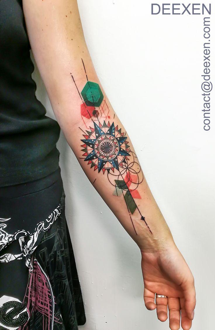 North sun #tattoo #tatouage #tattoos #graphicdesign #compass #deexen