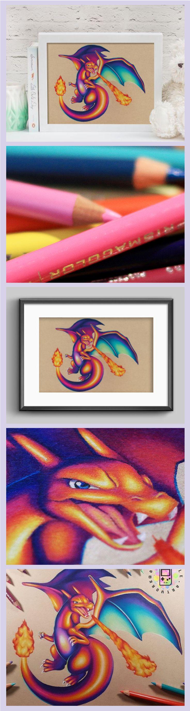 awesome Charizard Art Amazing Geek Art and Geek Decor