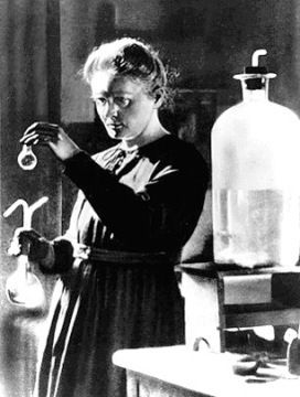 """""""Badass of the Week: Marie Curie"""" Happy birthday to the woman who invented chemotherapy, discovered two new elements in her backyard shed, and won the Nobel Prize in both Physics and Chemistry -- and all this at a time when women weren't even allowed the vote."""