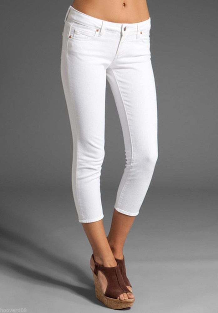 White Capri Jeans Bbg Clothing
