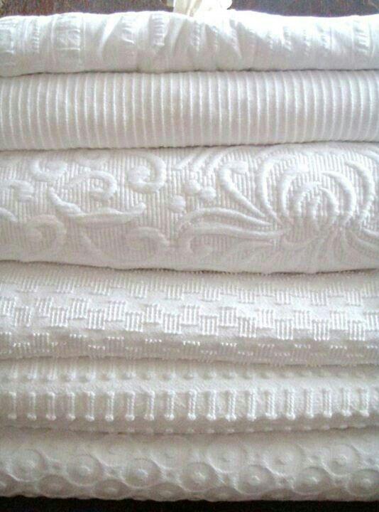 Lovely white bedspreads