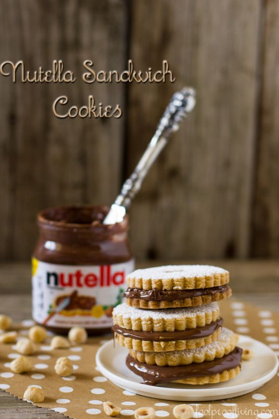 Nutella Shortbread Cookies