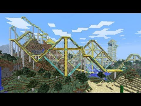 this is insane! maybe not the BEST minecraft roller coaster ever but pretty close!