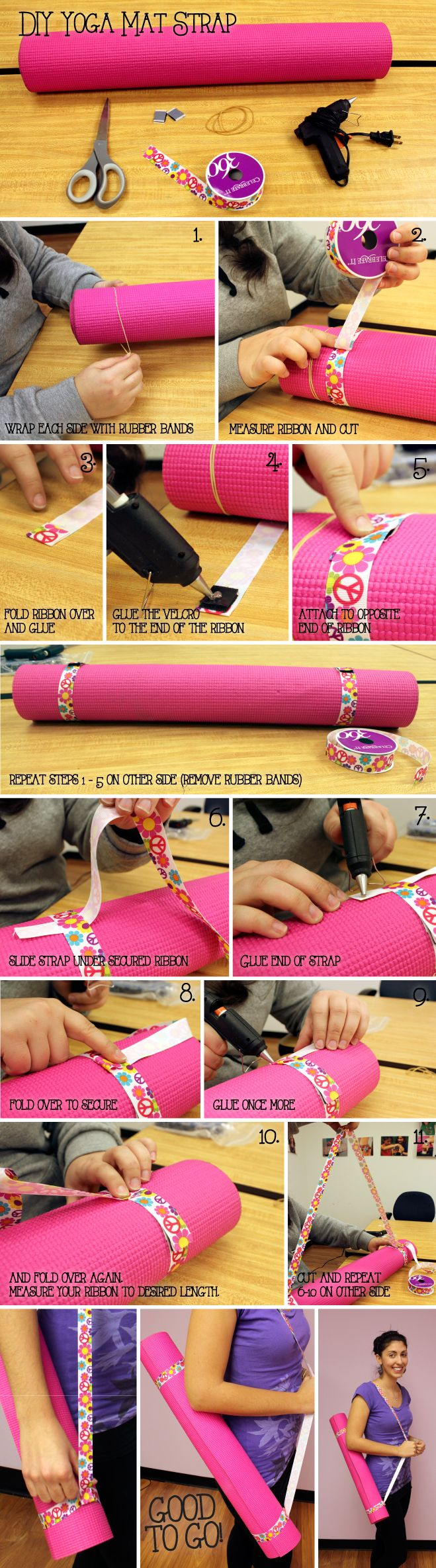 Create IT:  DIY Yoga Mat Strap. An easy and fun craft for kids, too!