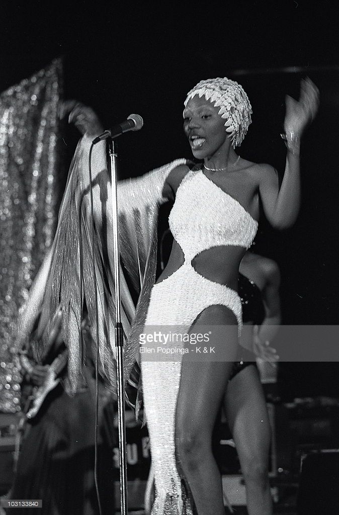 1977 - Boney M. (Liz Mitchell) perform live on stage in Germany in 1977
