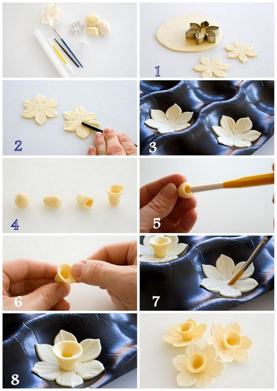 How to make a gum paste daffodil - http://www.amazon.co.uk/dp/B0126QJWPE http://www.amazon.de/dp/B0126QJWPE